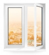 Двухстворчатое окно Rehau Blitz 1330х1410