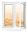 Двухстворчатое окно Rehau Blitz 1560х1460