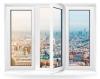 Трехстворчатое окно Rehau Blitz 2050х1420